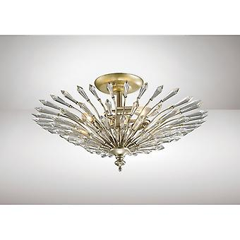 Fay Semi Ceiling 3 Light E14 Aged Gold/Silber/Kristall