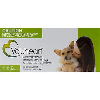Valuheart Green Dogs 10-20kg (23-44lbs) - 6 Chewables