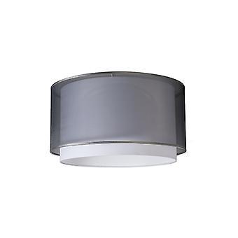QAZQA Tissu casquette suspendue noir / blanc 47/25 - Duo