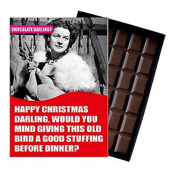 Funny Christmas Gift For Husband Boyfriend Men Chocolate Xmas Greeting Card Present CDL132