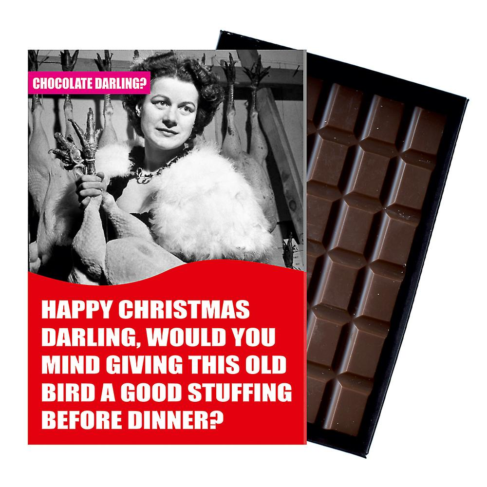 Funny Christmas Gift For Husband Boyfriend Men Chocolate Xmas Greeting Card Present CDL132