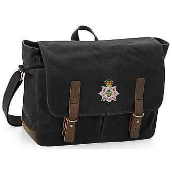 Defense Fire and Rescue - Licenza Dell'Esercito Britannico Ricamato Waxed Canvas Messenger Bag