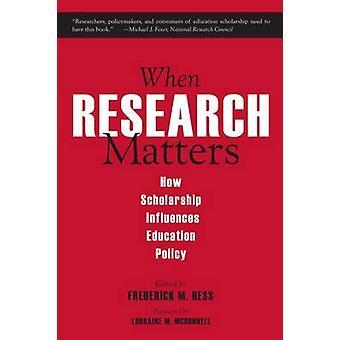 Lorsque les questions de recherche - bourse influence politique de l'éducation de