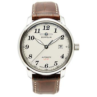 Count Automatic Analog Man Watch with Cowhide Bracelet 7656-5