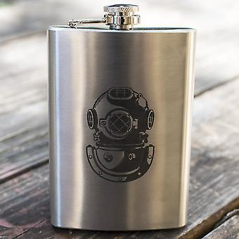 8oz army diver badge flask l1