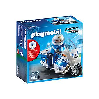 Playmobil 6923 City Action Police Bike With LED Light Playset