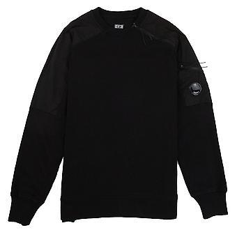 CP bedrijf nylon mix arm lens zip Sweatshirt zwart 999