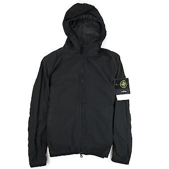 Stone Island Lamy Velour Nylon Jacket Black V0029