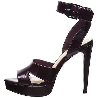 Fergie Womens Righteous Leather Open Toe Formal Ankle Strap Sandals