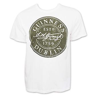 Guinness Bottle Cap Label Tee Shirt
