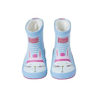 Joules Baby Girls Welly Print - Blue Rabbit Stripe