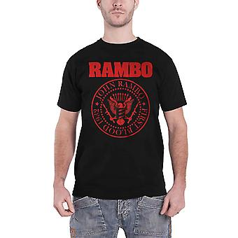 Rambo T Shirt First Blood 1982 Movie Logo new Official Mens Black