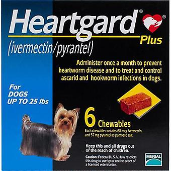 Heartgard Plus For Dogs Under 11 kg (25 lbs) - 6 Chewables