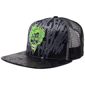 The Joker DC Comics Flat Bill Adjustable Black Snapback Hat