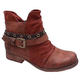 Rieker Brown Ankle Boot With Buckle Detail