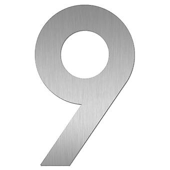 Nathan house number MIDI 9 stainless steel 64479-072