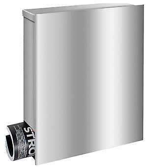 MOCAVI box 111 VA premium stainless steel mailbox with newspaper box in stainless steel V2A wall letter box