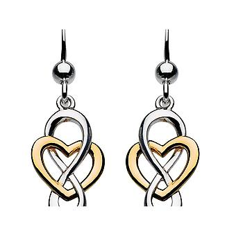 Kit Heath Heritage Cara Gold Celtic Looped Heart Earrings 6207GD015