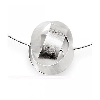 باستيان inverun - قلادة فضية مع حبل الفولاذ المقاوم للصدأ - 20310