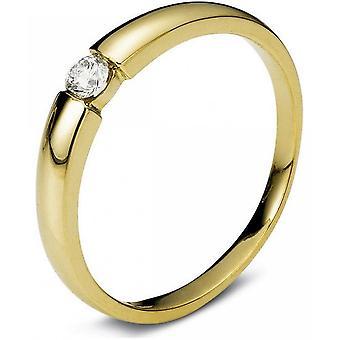 Diamond ring - 14K 585/- Yellow gold - 0.1 ct. Size 52