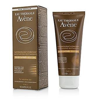 Fugtgivende selvbrunende silkeagtig gel til ansigt og ansigt Krop - For følsom hud - 100ml/3.3oz