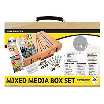 Daler Rowney simplesmente mixed media box set