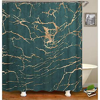Teal Marble Shower Curtain