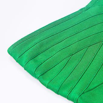 iFashion女性'sレーヨンボディコン包帯ミディドレスグリーンL、グリーン、サイズ大