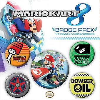 Mario Kart knapp badge set
