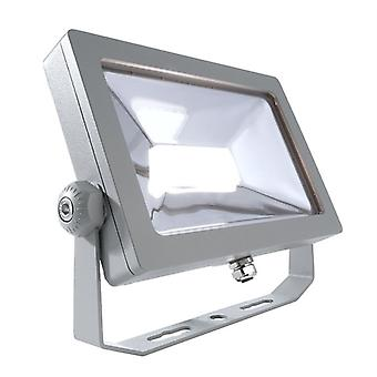 LED utendørs Spotlight Flood SMD 15W 3000 K 100 ° sølv IP65