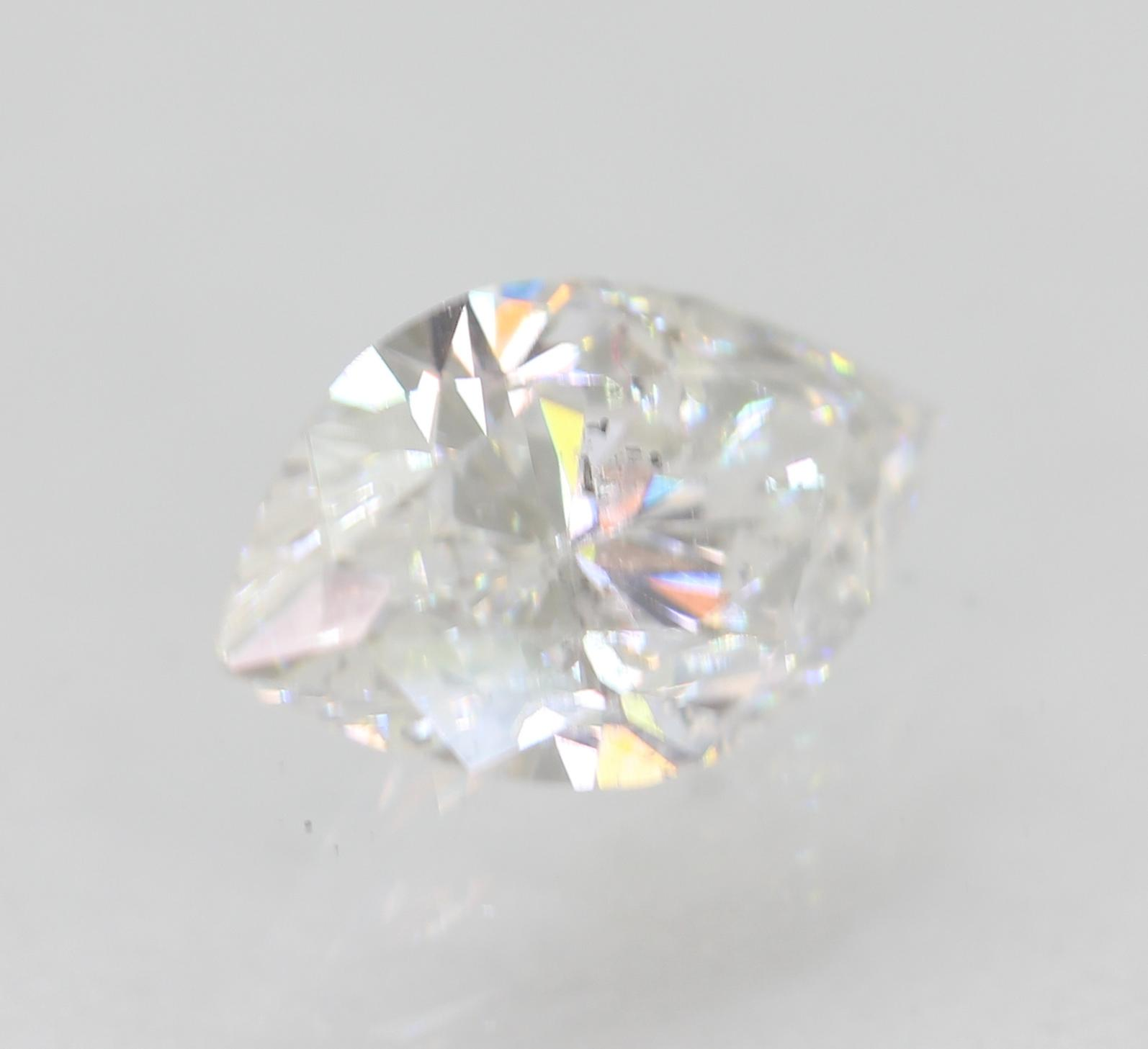Certified 0.59 Carat D SI1 Marquise Enhanced Natural Loose Diamond 7.91x4.59mm
