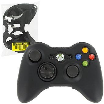 Zedlabz soft silicone rubber skin grip cover case for microsoft xbox 360 controller - black