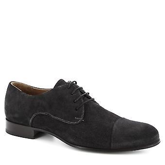 Leonardo kengät miehet ' s käsintehdyt pitsi-UPS älykkäät kengät harmaa Mokka nahka