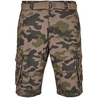 Southpole Men's Cargoshorts Belted Camo Ripstop