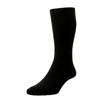 HJ Hall Cotton Diabetic Socks - Black