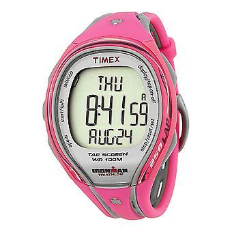 Timex T5K591 Ladies Female Pink Plastic 47MM Quartz Digital Chronograph Alarm Watch