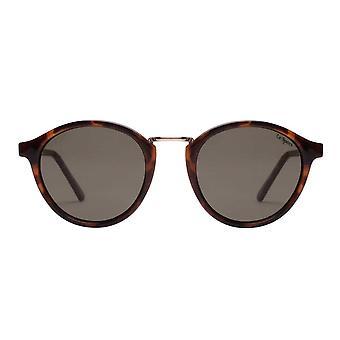 Le Specs Paradox Tortoise Round Sunglasses