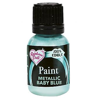 Regenboog stof metallic voedsel verf 25ml åÐ Pearlescent baby blauw