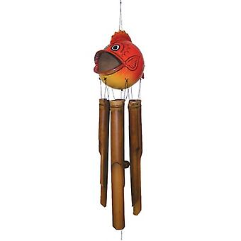 Blow Fish Bambus Wind Chime-Assort Farbe