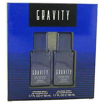 Gravity By Coty Gift Set -- Two 1.7 Oz Cologne Sprays (men) V728-516210