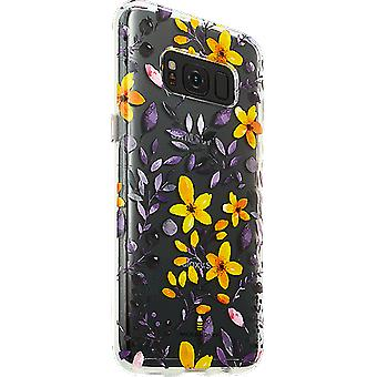 Milk and Honey Multi Floral Clear Case for Galaxy S8 - Purple/Yellow Flowers