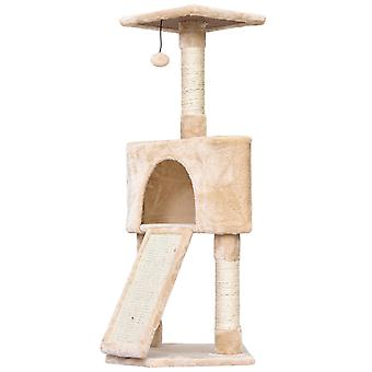 PawHut 3-Level Cat Tree Activity Centre Sisal Scratching Posts Perch Condo-Beige