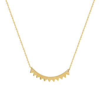 14k Yellow Gold Adjustable Triangle Center Station Necklace 18 Inch Jewelry Gifts for Women