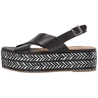 KAANAS Women's Metalik Ada Crossover Platform Wedge Sling Back Opentoe Sandal...