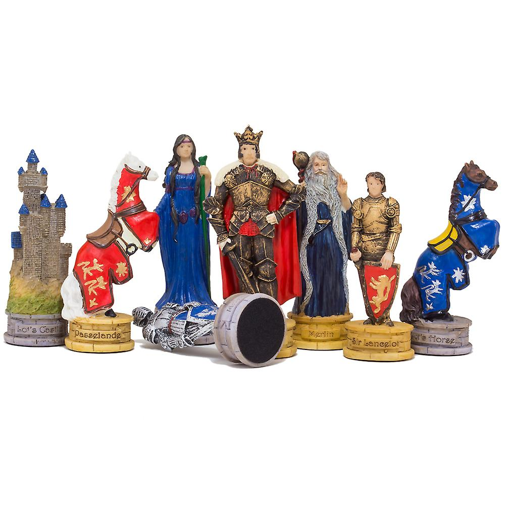 The King Arthur hand painted themed chess pieces by Italfama