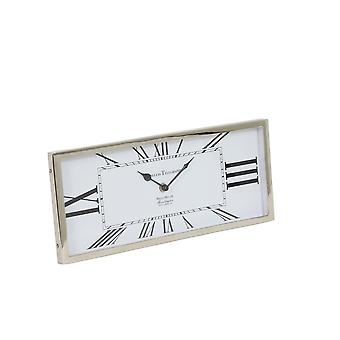 Light & Living Clock 36x16x3cm Kelston Antique White-Nickel