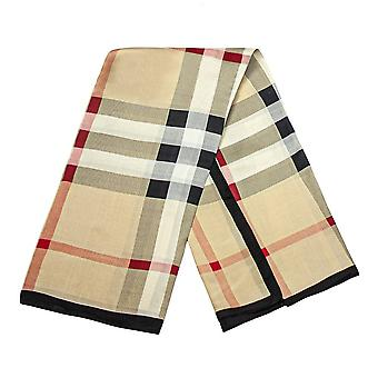 Scarf with checkerboard pattern - Creme coloured, No. 21