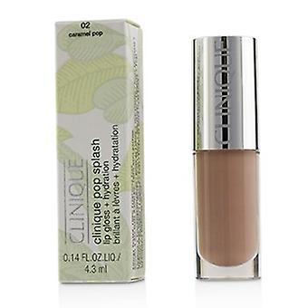 Clinique Pop Splash Lip Gloss + Hydration - 02 Karamell Pop 4,3 ml/ 0,14 Unzen