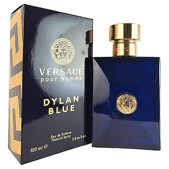Dylan blå for menn av versace 100 ml eau de toilette spray