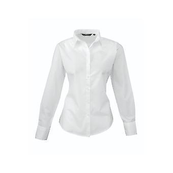 Premier long sleeve poplin blouse pr300 light colours